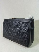 NWT Tory Burch Black Fleming Open Shoulder Tote image 6