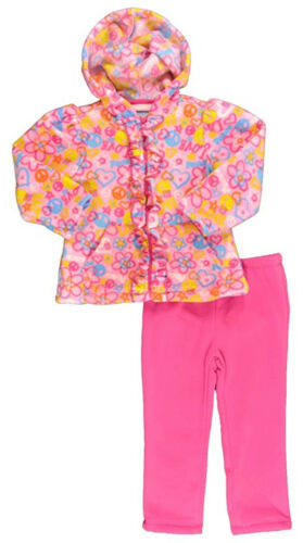 4T Toddler Girl's Outfit Fleece Hoodie and Pants Kids Headquarters Pink NEW