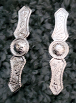 """Silver Halter or Bridle Bars 7/8"""" x 4"""" by Action Company Pair set of 2 image 1"""
