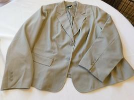 Lane Bryant Women's Ladies Sport Coat Jacket Size 24 Grey Pin Striped 02... - $50.78