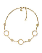 Michael Kors Necklace Brilliance Stationary Pave Circles NEW $135 - $106.92