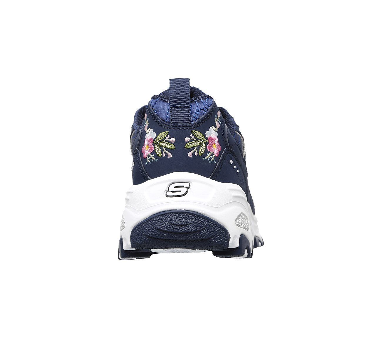 11977 Navy Dlites Skechers Shoes Women Sporty Casual Comfort Memory Foam Floral image 6