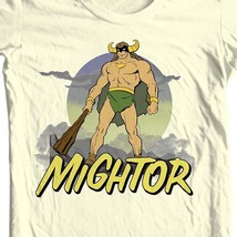Mightor T-shirt  Saturday morning cartoons retro 80s cotton tee Fee Shipping image 1