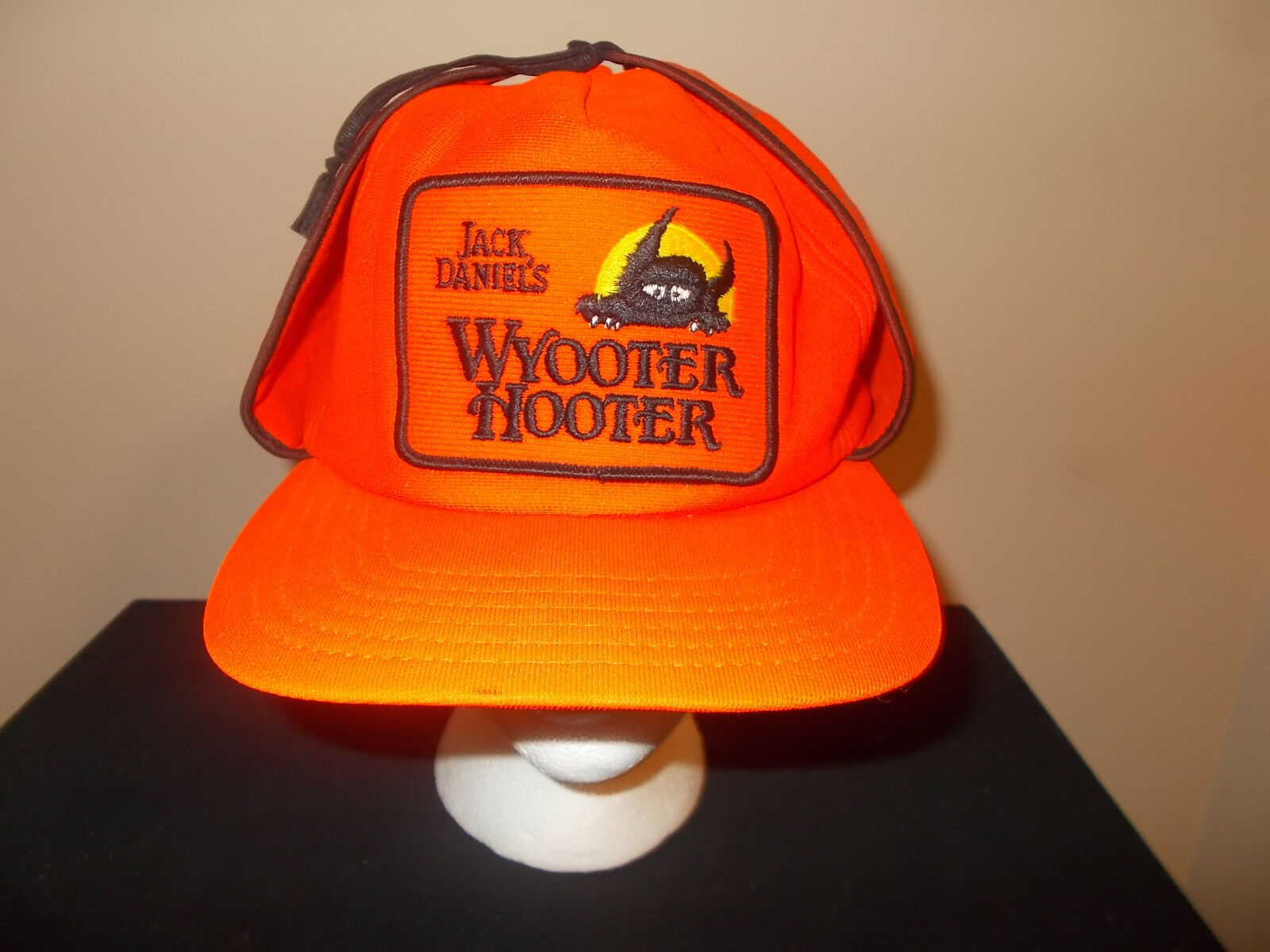 Primary image for Vtg-1980s Jack Daniels Wyooter Orange Chasse au Chevreuil Elmer Fudd Chapeau