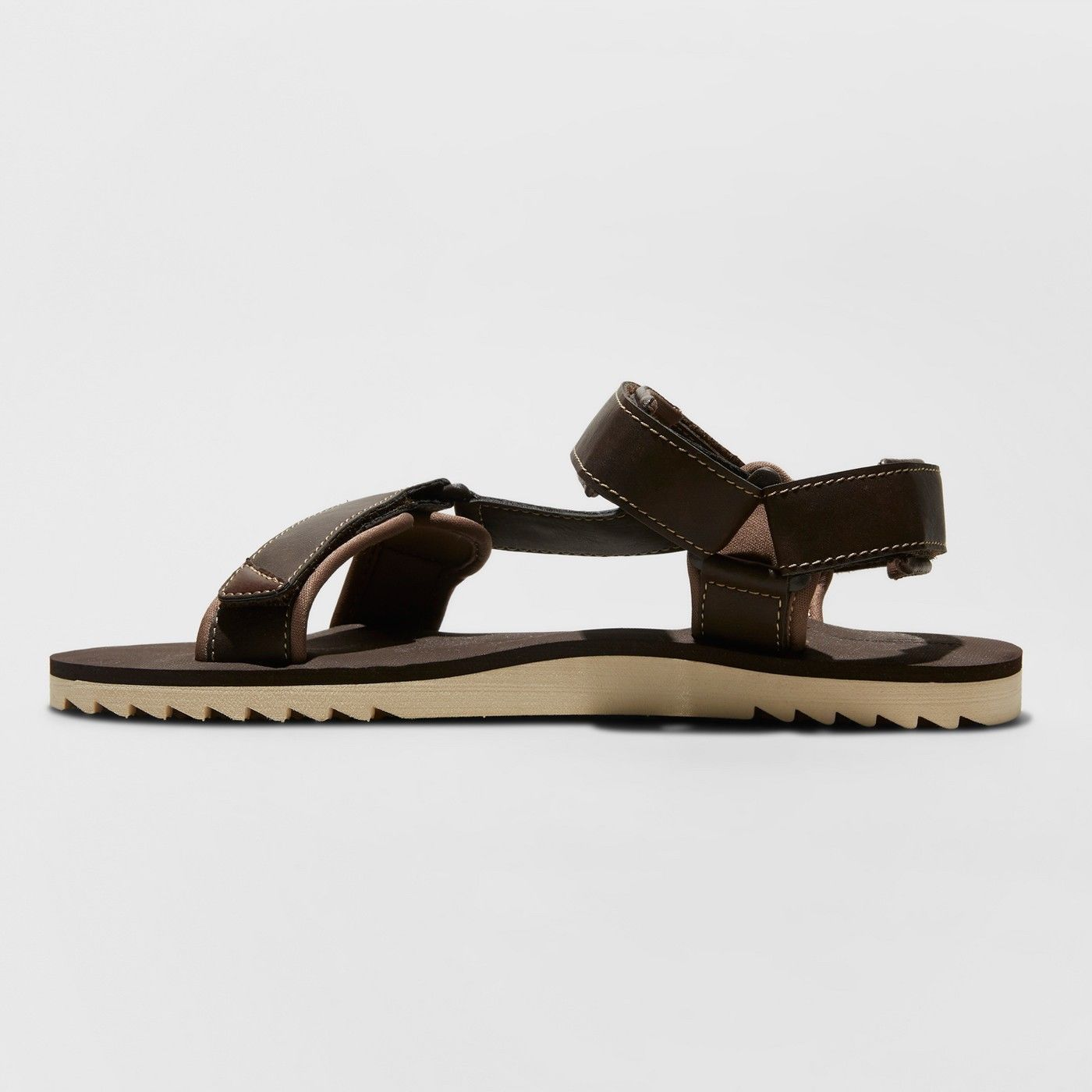 Mens Size Small 7-8 Richie Strap Sandals Brown Goodfellow & Co New