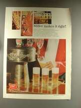 1968 Miller High Life Beer Ad - Miller Makes it Right - $14.99