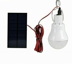 Solar light 12 LED outdoor waterproof solar bulb hanging lamp courtyard ... - $18.04