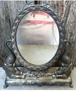 Dresser Top Double Sided Mirror w Elephants - $18.00