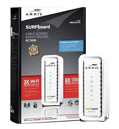 ARRIS SURFboard SBG6700AC DOCSIS 3.0 Cable Modem/ Wi-Fi AC1600 Router - Retail P