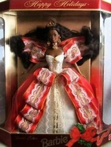 Happy Holidays 1997 Special Edition Barbie Doll Brunette 10th Anniversar... - $12.87