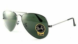 New Authentic Ray Ban RB 3025 Sunglasses W0879 Men's L Aviator Gunmetal Green - $84.11