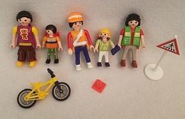 PLAYMOBIL 4328 School Crossing Guard Childrem Moms Bikes Signs Backpacks... - $14.46