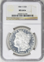 1881-S Morgan Silver Dollar - NGC MS-64 Star - Mint State 64 Star - Nice... - $197.01