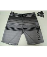 Mens HURLEY Phantom Peters Black Gray Boardshorts Swim Suit Sz 32/20 NWT... - $43.64