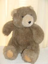 "Vintage 1988 Brown Manhattan Toy Company 15"" Teddy Bear Plush Lovey - $11.69"