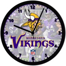 "Minnesota Vikings LOGO Homemade 8"" NFL Wall Clock w/ Battery Included - $23.97"