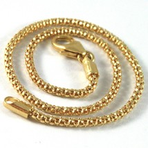 SOLID 18K YELLOW GOLD BRACELET LITTLE BASKET ROUND LINK 2 MM WIDTH MADE ... - $252.00