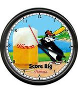 A Hamm's Hamms Baseball Costume Beer Bear Bar Tavern Sign Wall Clock - $21.12