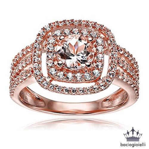 Round Cut Pink Morganite Three Row Bridal And 50 Similar Items