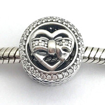 Authentic Pandora Loving Ties, Sterling Silver w/ Clear CZ 792146CZ, New - $48.44