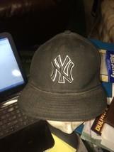 trucker hat baseball cap New York Yankees flat bill 6 1/2 cool lid old school - £32.10 GBP