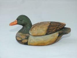 Vintage Ceramic Mallard Duck Trinket Pin Dish - $10.85