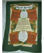Traditional Welsh Recipes Cotton Tea Towel Clive Mayor - $11.70