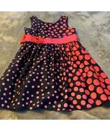 Girls Size 16 Bonnie Jean Navy Pink Polka Dot Dress Party Church Easter EUC - $24.00