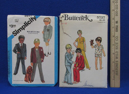 2 Vintage Boys Child Butterick Simplicity Sewing Patterns Pajamas Pants ... - $10.88