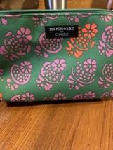 Marimekko for Clinique Green/Pink Floral Makeup Cosmetic Bag - $6.00