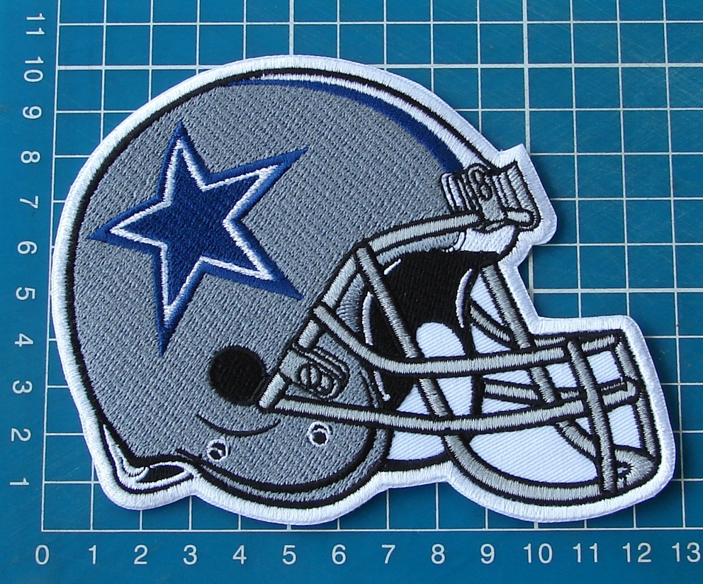Primary image for Dallas Cowboys helmet patch NFL football  superbowl huge sew on embroidery