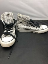 Women's Converse All Star Black And White Floral Canvas Hightop Shoes Size 6 US - $24.70
