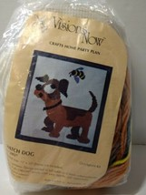 """Watch Dog Quick Needlepoint Kit Visions Now 15"""" x 15"""" Opened Complete - $14.50"""