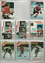 8 Topps 1978 Hockey Cards Nrmt Salming, Lafleur, Esposito, Dryden Group 1 - $6.14