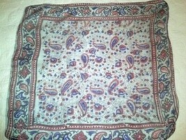 "Vintage silk scarf from India - 20"" x 21"" - $24.00"