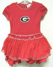 NCAA Georgia Bulldog G Logo on Red w/White Pin Dot Tutu Dress by Two Fee... - $28.95