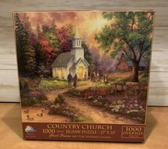 Sunsout Puzzle by Chuck Pinson COUNTRY CHURCH 1000 Oversize Pieces Brand New - $24.49