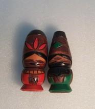 Vintage Japan Made 1 Pair Hokkaido Ainu Kokeshi dolls (10cm) - $23.64