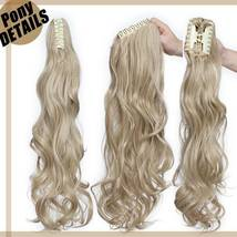 Real Thick Claw Ponytail Hair Piece Clip in Hair Extensions As Human Hair image 4