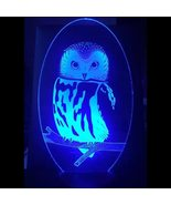 USB LED 3D Visual Owl Modelling Night Light Bady Bedside Sleep Table Lam... - $39.99