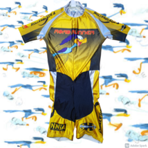 Cycling Jersey Suit Yellows Rollerblade Road Runner Vintage  - $49.95