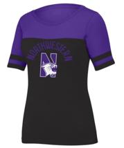 J American NCAA Women's Stadium Tee - Northwestern Wildcats, Size Small, Black - $18.76
