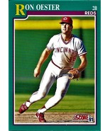 1991 Score Baseball Card, #651, Ron Oester, Cincinnati Reds - $0.99