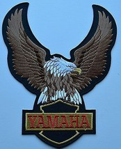 YAMAHA Eagle Motorcycle Embroidered Cloth Iron On Patch  Aufnäher - $23.37