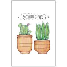 Succulent Plants Wall Art Poster - $14.36+