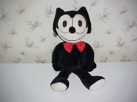 "22"" Felix The Cat Plush Stuffed Toy With Bow Tie By Applause 1988 - $93.49"