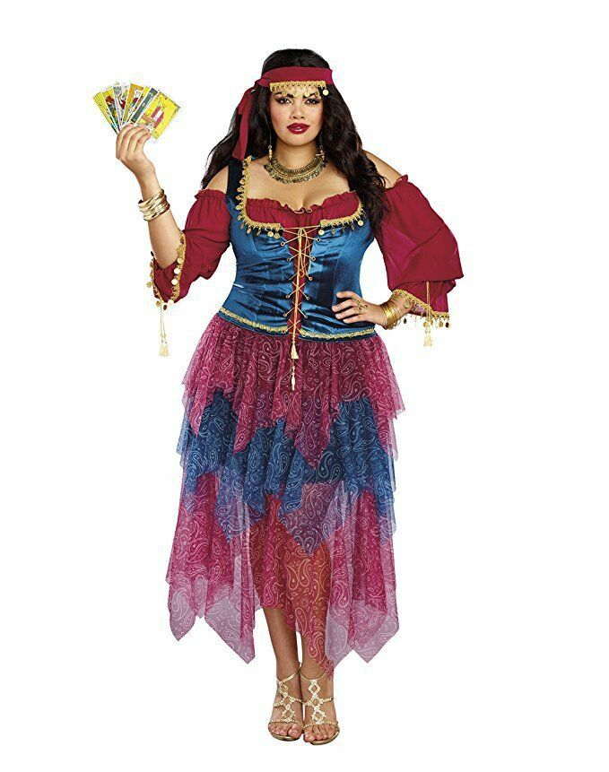 Primary image for Dreamgirl Gypsy Crystal Ball Fortune Teller Adult Womens Halloween Costume Plus