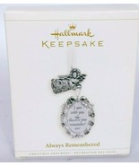 Hallmark Keepsake Christmas Ornament Always Remembered Angel 2006 - $17.51