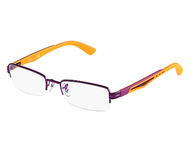 Ray Ban Eyeglasses RB 6264 c. 2797 in Violet with Orange Temples 51mm - $65.44