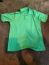 *Stain ADIDAS CLIMACOOL FORMOTION MEN'S GOLF POLO SHIRT GREEN L POLYESTER  - $23.00